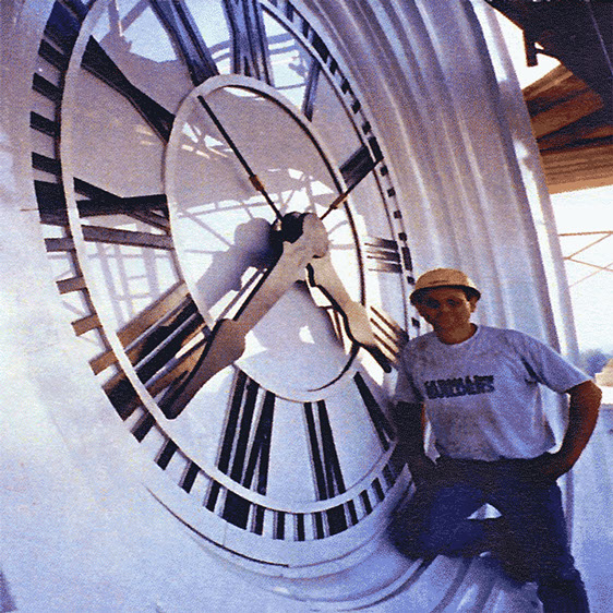 Courthouse Tower Clock Dial, Phil wright Owner of the The Tower Clock Company